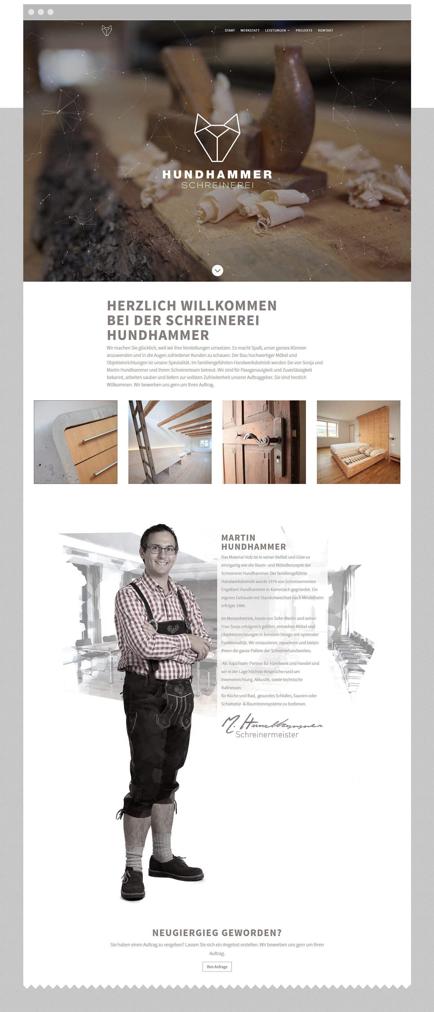 marketing agentur ostfildern - dt media group - schreinerei hundhammer